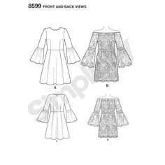 Simplicity Pattern 8599 Misses' and Petites' Cynthia Rowley Dresses