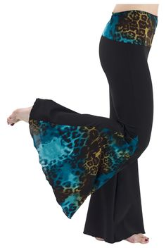 Side Print Flare Pants | Nia | A sensory-based movement practice that leads to health, wellness and fitness