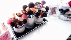 Makeup Brushes, Vanity, Makeup Collection, Beauty Room, Makeup Storage, Room Decor, Girly Room, Glam Room www.BelindaSelene.com