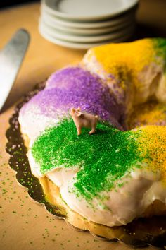 King Cake! Madi Gras Baby! For when I get back to the states and have my kitchen aid mixer to use.