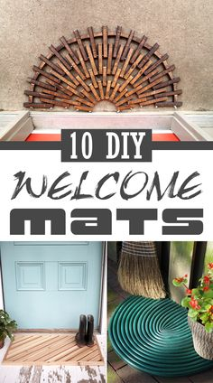 Welcome guests in style with one of these DIY welcome mats