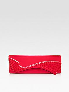 Christian Louboutin - Pigalle Spiked Patent Leather Clutch