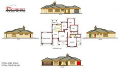 Samples of our House Plans 4 Bedroom House Plans, Family House Plans, Free House Plans, Best House Plans, House Plans South Africa, African House, Modern Bungalow House, Beautiful House Plans, Model House Plan
