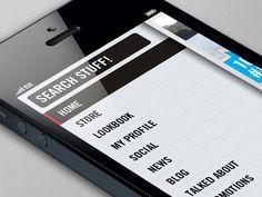 #mobile #design #ui  #menu  #flyin  #slidermenu