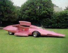 Pink Panther car..The car was designed by none other than Jay Ohrberg, the same who produced other famous movie and television vehicles including Knight Rider K.I.T.T., Back To The Future DeLorean, 1966 Batman Batmobile, 1989 Batman Batmobile, Dukes of Hazzard General Lee, Starsky & Hutch Ford Gran Torino and even the Flintstones car.