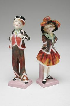 PAIR Vintage Royal Doulton HN 2035 Pearly Boy and Pearly Girl Figurines