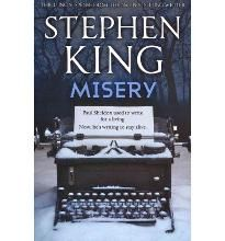 Misery by Stephen King. My favourite Stephen King book. Has an amazing film adaptation, but the book adds a lot more to it. Stephen King It, Stephen King Novels, Steven King, I Love Books, Great Books, Books To Read, My Books, Agatha Christie, Book Lovers