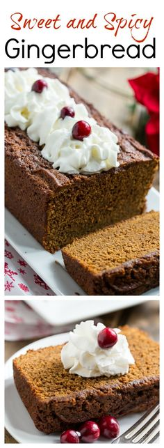 Sweet and Spicy Gingerbread - a few unconventional ingredients give this gingerbread an extra bold flavor.