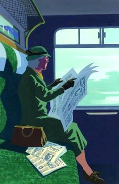 Davidson, Andrew - Agatha Christie's Miss Marple Reading on Train (Folio…