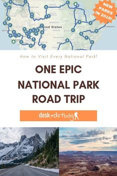 Have you ever dreamed about leaving everything behind and setting out on an epic National Park road trip across the entire United States? Here's how to do it and visit every national park along the way! #usa #roadtrip #nationalparks via @desktodirtbag