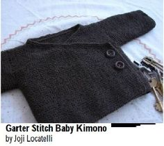 Baby Knitting Patterns Ravelry: Garter Stitch Baby Kimono pattern by Joji Locatelli. Kimono Pattern, Cardigan Pattern, Jacket Pattern, Kimono Cardigan, Kimono Jacket, Sweater Jacket, Baby Knitting Patterns Free Cardigan, Knitting For Kids, Free Knitting