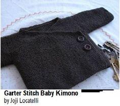 Cache-coeur kimono bébé tricoté en une seule pièce