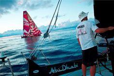 Abu Dhabi Ocean Racing and Camper at sunrise - Nick Dana/Volvo Ocean Race