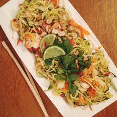 Zoodle Pad Thai with Shrimp & Mango