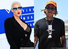 Amber Rose and Wiz Khalifa Are Feuding on Twitter After Her Threesome Confession