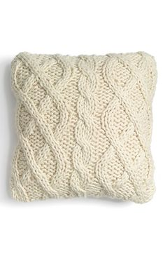 Nordstrom at Home Cable Knit Accent Pillow available at #Nordstrom