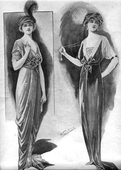 When researcing the Titanic dresses I intened to make, I came across lots and lots of beautiful pictures of Edwardian clothing. Even though my dresses are all done, I tought I share some of my favo…