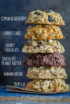 Healthy Make Ahead Breakfast Cookies - 6 Ways These breakfast cookies are a really great make ahead breakfast option that are also super portable and healthy! Choose from 6 different flavors that are all vegan, gluten free and refined sugar free!