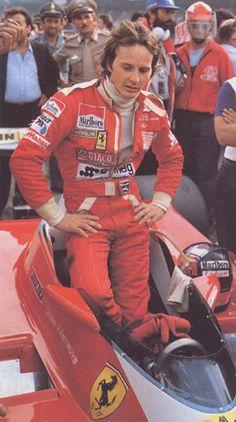 Gilles a?Gilles brought much prestige to the name of Ferrari. I loved him. Ferrari Racing, Ferrari F1, F1 Racing, Sport Cars, Race Cars, Motor Sport, Abu Dhabi, Grand Prix, Monaco