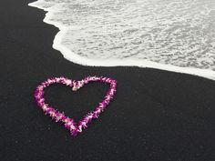 Aloha Means Love at Black Beach, Hawaii ~ I have seen the Black Beach.. Breathtaking and Beautiful