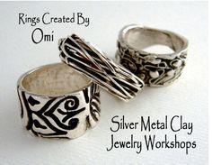Silver metal clay rings