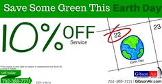 10% off your HVAC service in las vegas coupon. Now's the best time to prepare your HVAC system for the summer! Visit http://www.gibsonair.com/specials/ for more energy and money saving deals or to schedule HVAC service in Las Vegas