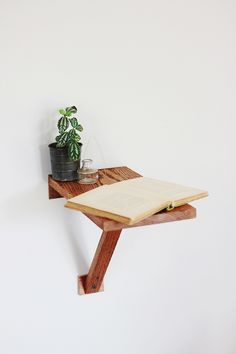Creative and #minimal wooden plank #nightstand