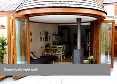 curved folding sliding doors - Google Search