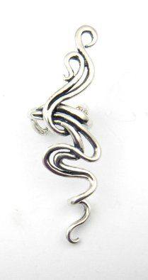 Amazon.com: Sterling Silver Spiro Spiral Ear Climber Cuff Handcrafted: Jewelry