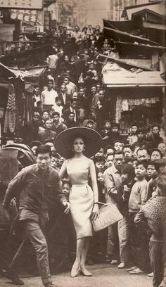 "Francesco Scavullo. ""Antonia at the Star Ferry"". 1962. Hong Kong, China. (Harper's Bazaar)."