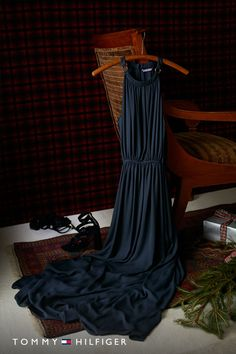 When in doubt, go long. Tommy's Midnight Maxi Dress, now available for holiday parties everywhere on tommy.com.