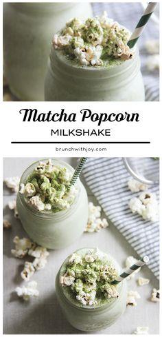 Matcha Popcorn Milkshake + A Giveaway - Brunch 'N Bites