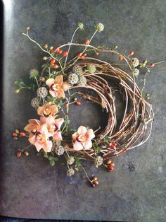 A collection of dreamy flower arrangement ideas for your home, wedding, or creative venture. Find inspiration for beautiful flower arrangements here. Fall Wreaths, Door Wreaths, Grapevine Wreath, Christmas Wreaths, Christmas Decorations, Rustic Wreaths, Ribbon Wreaths, Flower Wreaths, Tulle Wreath