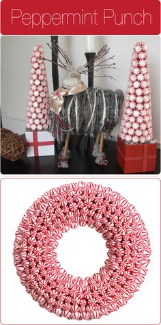 Candy trees, neat idea for Christmas