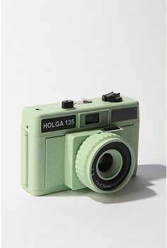Holga camera in mint by Urban Outfitters Old Cameras, Vintage Cameras, Canon Cameras, Canon Lens, 35mm Camera, Camera Gear, Nikon Dslr, High Contrast Photos, Camera Aesthetic