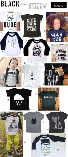 tees for your little guy, http://www.spearmintbaby.com/2014/01/black-white-tees/