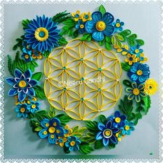 Here comes my 6th creation this year..a Flower wreath with Flower of Life #6thcreation2018 #quilling #quillingartist #quillingartwork #quillingart #lgenpaper #quillingflowerwreath #paperquillingartist #paperquillingart #paperquillingartwork #floweroflife #instaart #instaartist #handcrafted #handmade #wallart #walldecor #artforsale #neerugandhi #mannquillingcreationsby_neeru