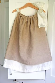 Double Layer Pillowcase Dresses (Tutorial) - awesome idea for lining inside with lightweight linen outside.