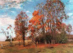 Исаак Левитан » Малоизвестные пейзажи, картины » Осень