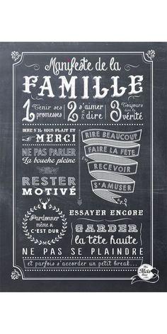 Le plus important, c'est notre famille Chalkboard Art, Some Words, Positive Attitude, Decir No, Best Quotes, Quotes Quotes, Quotations, At Least, Positivity