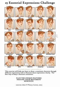 OC (8) Expressions Challenge by Natello on DeviantArt