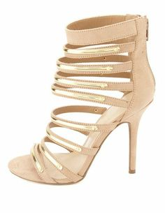 Gold-Plated Strappy High Heels: Charlotte Russe
