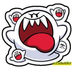 Awesome 'Vintage+Super+Mario+World+-+Boo+Ghost' design on TeePublic! Super Mario Tattoo, Super Mario 3d, Super Mario World, Piskel Art, King Boo, Boo Ghost, Pop Art Wallpaper, Pokemon, Video Game Art