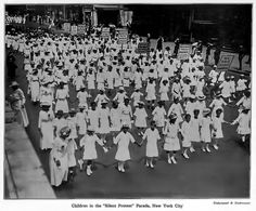 THE FIRST MASSIVE AFRICAN AMERICAN PROTEST IN U.S. HISTORY WAS LED BY CHILDREN MARCHING AGAINST LYNCHING IN THE SILENT PROTEST PARADE