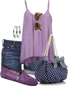 Women's Purple Toms Crochet Classics
