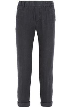 James Perse - Linen Tapered Pants - Dark gray - 4