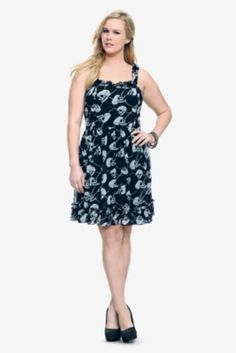 Tripp - Black Skull Chiffon Tank Dress