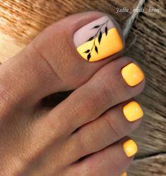 Feet Nail Design, Pedicure Nail Designs, Manicure E Pedicure, Toe Nail Designs, Beach Nail Designs, Pretty Toe Nails, Cute Toe Nails, Acrylic Toe Nails, Toe Nail Art