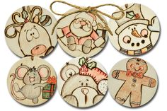 Enjoy this fun holiday craft project for wood gift tags and ornaments. They're cute to give away or use over and over again!