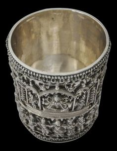 Unusual South Indian Silver Beaker - Michael Backman Ltd Silver Accessories, Silver Jewelry, Silver Pooja Items, Pooja Rooms, Deities, Brass, Copper, Decoration, Indian Jewelry